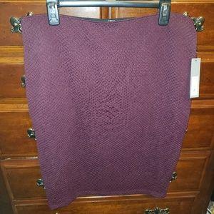 Burgundy/maroon/purple midi skirt